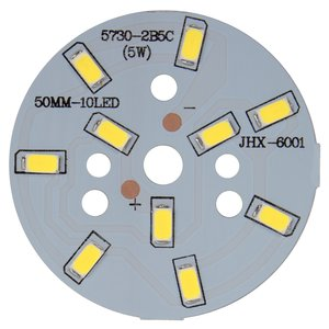 PCB with LEDs 5 W (cold white, 600 lm, 50 mm)