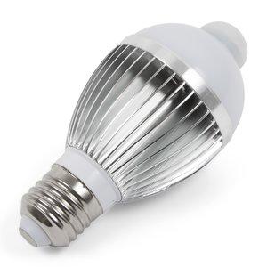 LED Light Bulb 5 W with IR Motion Sensor (cold white, 450 lm, E27)
