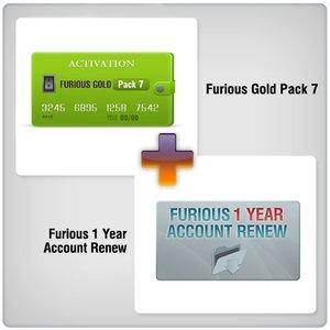 Renovación de acceso al servidor Furious Gold por 1 año  + Furious Gold Pack 7