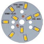 Placa PCB con diodos LED de 5 W (luz blanca tíbia, 600 lm, 50 mm)