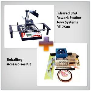 Инфракрасная паяльная станция Jovy Systems RE-7500 с набором для реболлинга