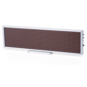 LED-дисплей для рекламы P5 (660 × 94 мм, 112 × 14 точек)