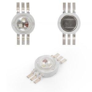 Світлодіод 3 Вт (RGB, 6 контактів, 350 мА)