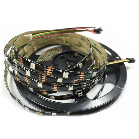 Світлодіодна стрічка RGB SMD5050, WS2813 чорна, з управлінням, IP65, 5 В, 30 діодів м, 5 м