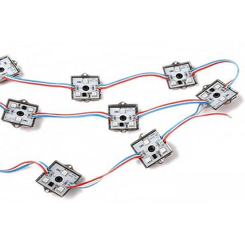 Комплект квадратних LED модулів WS2811, повноколірні, 3 світлодіоди SMD5050, IP67, 20 шт.